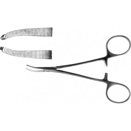 Зажим к/о 1х2 зубый изогнутый №1 158 мм, З-119