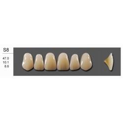 Гарнитуры передних верхних зубов А2/25-зубы искусственные пластмассовые Эстедент-02