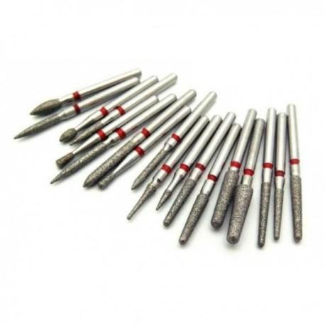 Головки алмазные 20 видов д/прямых, угловых, турбинных наконечников
